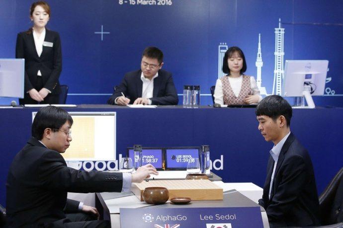 La rencontre AlphaGo-Lee Sedol a eu lieu en mars 2016 à Séoul, en Corée du Sud. - Lee Jin-man/AP/SIPA