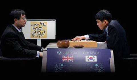 Détail de l'affiche du documentaire AlphaGo.
